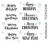 hand written new year phrases.... | Shutterstock .eps vector #721912108