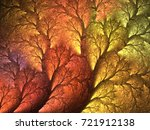 abstract fractal color texture. ... | Shutterstock . vector #721912138