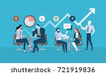 flat design business people... | Shutterstock .eps vector #721919836