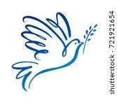 Dove Of Peace Icon. Flying Bir...