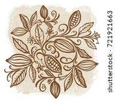 cocoa beans illustration.... | Shutterstock .eps vector #721921663
