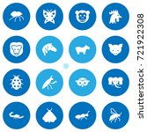 set of 16 animal icons set... | Shutterstock .eps vector #721922308