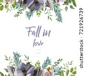 vector floral card design ...   Shutterstock .eps vector #721926739