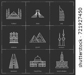 middle east landmarks. the... | Shutterstock .eps vector #721927450