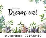 vector floral card design ... | Shutterstock .eps vector #721930450