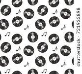 vinyl record vintage seamless... | Shutterstock .eps vector #721932898