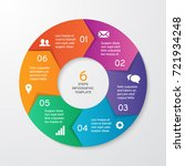 circle arrows for infographics. ... | Shutterstock .eps vector #721934248