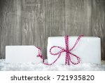 white gift  snow  label  copy... | Shutterstock . vector #721935820