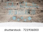 turquoise calligraphy gutes...   Shutterstock . vector #721936003