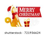 merry christmas postcard... | Shutterstock .eps vector #721936624