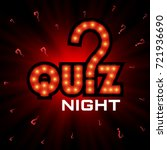 quiz night announcement poster... | Shutterstock .eps vector #721936690