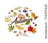 autumn leaves  vector  autumn... | Shutterstock .eps vector #721937620