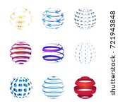 sphere icons set isolated on... | Shutterstock .eps vector #721943848