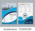 modern business two sided flyer ... | Shutterstock .eps vector #721947229