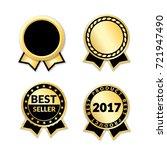 ribbon awards best seller set.... | Shutterstock .eps vector #721947490