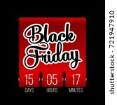 abstract vector black friday... | Shutterstock .eps vector #721947910