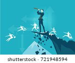 businessmen on top on the...   Shutterstock .eps vector #721948594
