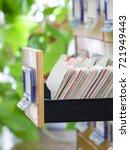 interior of a library   Shutterstock . vector #721949443