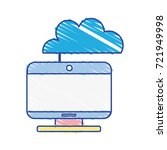 computer technology with cloud... | Shutterstock .eps vector #721949998