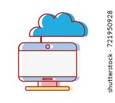 computer technology with cloud... | Shutterstock .eps vector #721950928