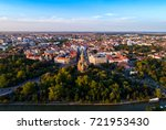 Aerial view of Timisoara city in Romania taken by a professional drone
