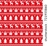 christmas seamless pattern ... | Shutterstock .eps vector #721955860