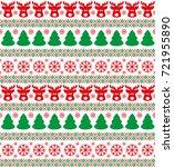 christmas seamless pattern ...   Shutterstock .eps vector #721955890