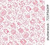 blood donation seamless pattern ... | Shutterstock .eps vector #721956349