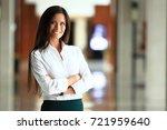 smiling confident business... | Shutterstock . vector #721959640