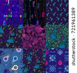 patchwork made of various... | Shutterstock .eps vector #721961389