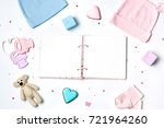 baby shower party background... | Shutterstock . vector #721964260