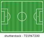 football field vector drawing | Shutterstock .eps vector #721967230