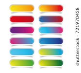 empty web colorful button set | Shutterstock .eps vector #721970428