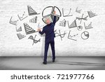 view of a businessman in front... | Shutterstock . vector #721977766