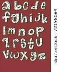 funny cartoon kids alphabet... | Shutterstock .eps vector #72198064
