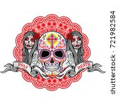 holy death  day of the dead ... | Shutterstock .eps vector #721982584