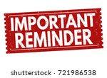 important reminder grunge...   Shutterstock .eps vector #721986538