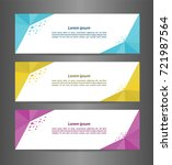 set three abstract modern... | Shutterstock .eps vector #721987564