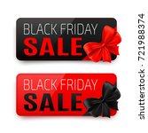 black and red banner with... | Shutterstock .eps vector #721988374