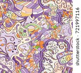 tracery seamless pattern.... | Shutterstock .eps vector #721997116