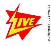 live   logo design. vector... | Shutterstock .eps vector #721998736