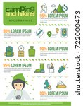 camping and hiking infographics ... | Shutterstock .eps vector #722000473