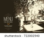 restaurant menu design. vector... | Shutterstock .eps vector #722002540