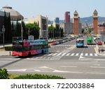 barcelona  spain   august 16 ...   Shutterstock . vector #722003884