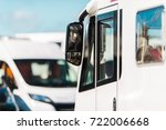 rv park camper van closeup...   Shutterstock . vector #722006668