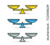 scales color icon set. vector... | Shutterstock .eps vector #722008639