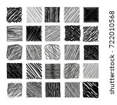 pencil sketch texture vector set | Shutterstock .eps vector #722010568