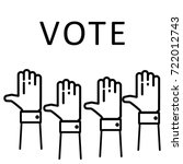 election voting concept. hands... | Shutterstock .eps vector #722012743