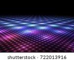 abstract colorful dance floor... | Shutterstock . vector #722013916