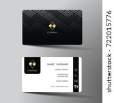 modern business card template... | Shutterstock .eps vector #722015776